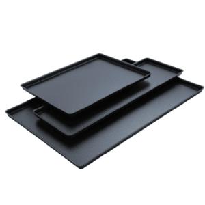 sorte udstillingsplader i plast